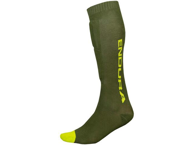 Endura SingleTrack Schienbeinschoner Socken forestgreen